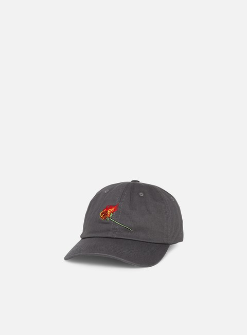 Curved Brim Caps Primitive Heartbreakers Club Burning Dad Hat