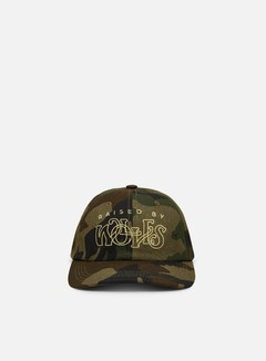 Raised by Wolves - Menthol Dad Cap, Woodland Camo
