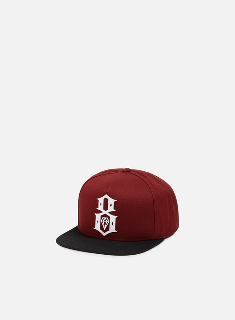cappellini rebel 8 applic8 snapback maroon black