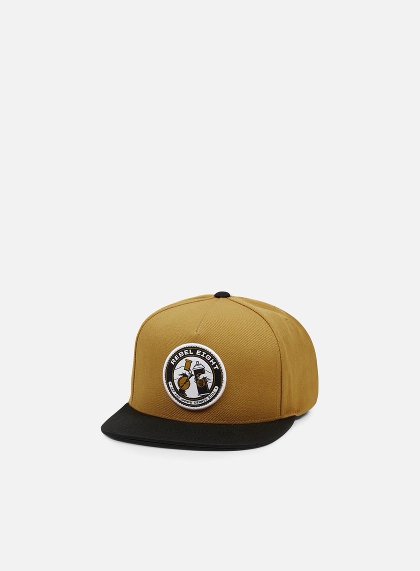Rebel 8 - Good Crimes Snapback, Brown/Black