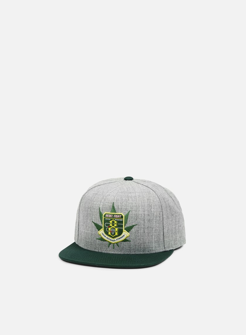 Rebel 8 - National Striker Snapback, Athletic Heather/Dark Green