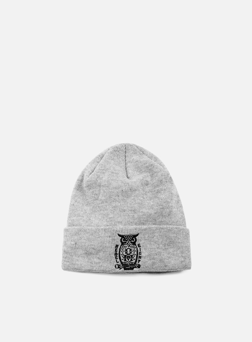 Rebel 8 - Night Watch New Era Cuffed Beanie, Heather Grey
