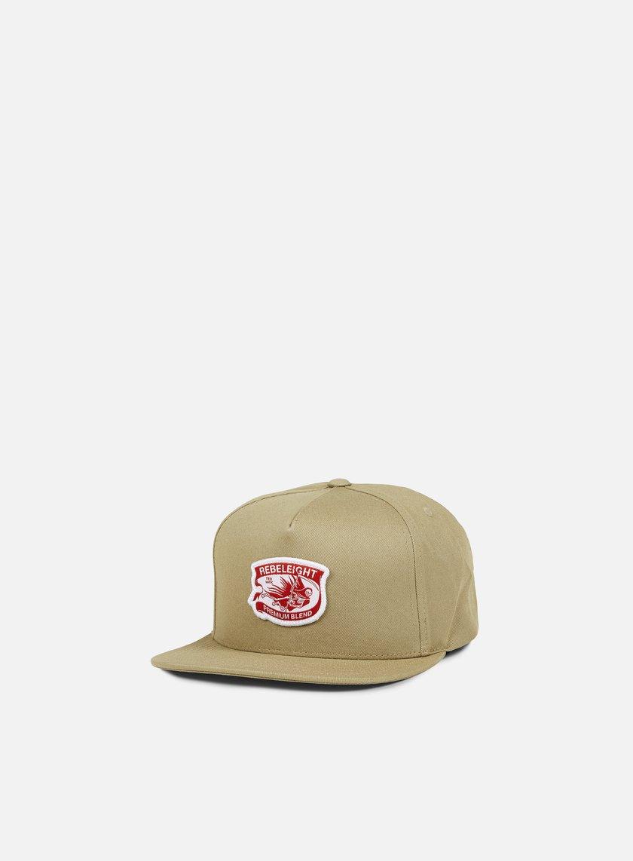 Rebel 8 - Premium Blend Snapback, Khaki