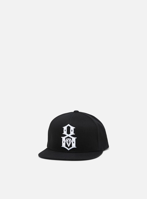 cappellini rebel 8 standard issue logo underbrim snapback black