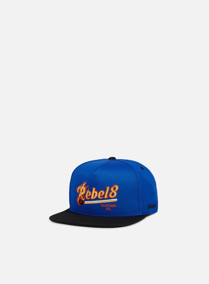 Rebel 8 - Strike First Snapback, Royal Blue
