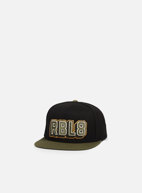 cappellini rebel 8 top gunner snapback black army