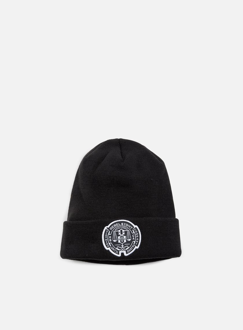 Rebel 8 - Until Death New Era Cuffed Beanie, Black