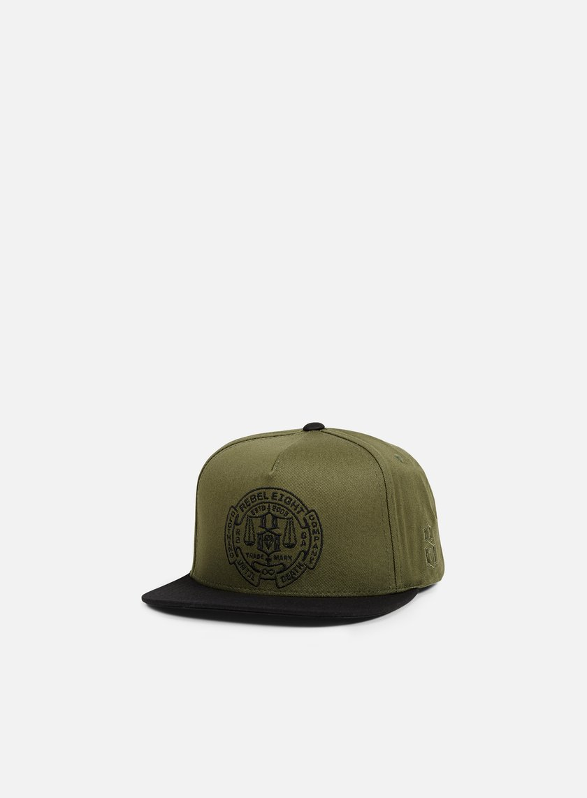 Rebel 8 - Until Death Snapback, Army/Black