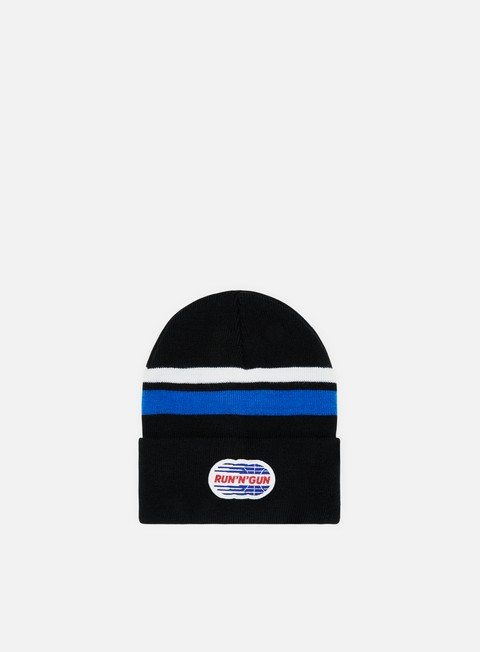 cappellini run n gun stripe beanie black