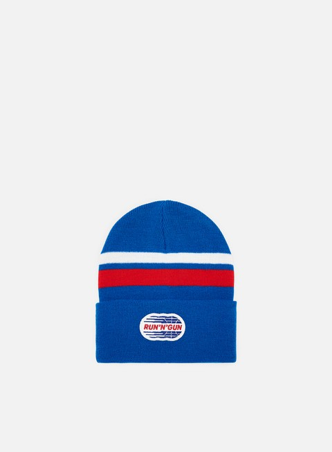 cappellini run n gun stripe beanie royal