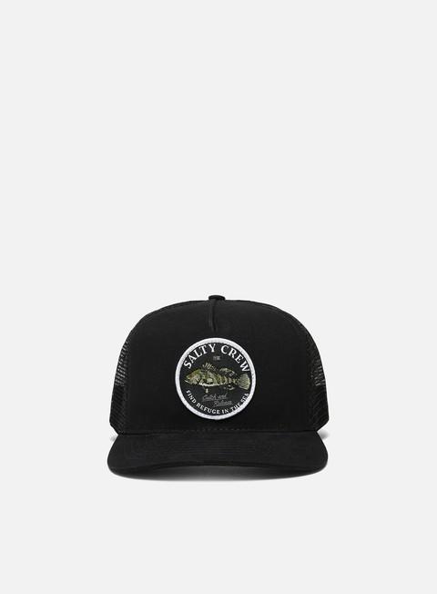 Curved Brim Caps Salty Crew Baybass Retro Trucker Hat