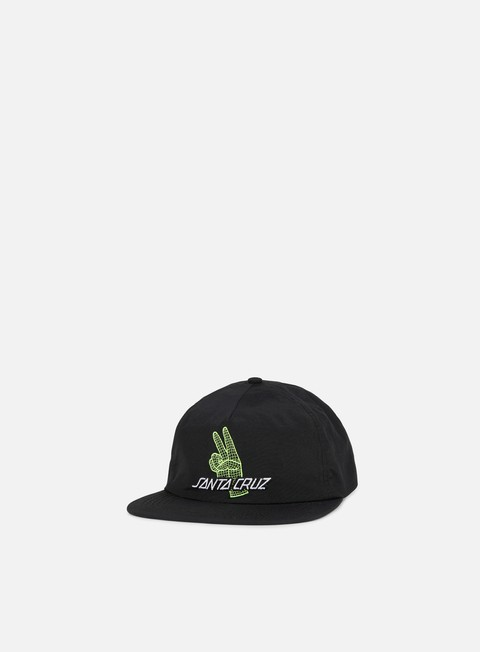 5 Panel Caps Santa Cruz Atomic Peace Cap