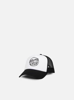 Santa Cruz - Dressen Dot Trucker Cap, Black/White 1