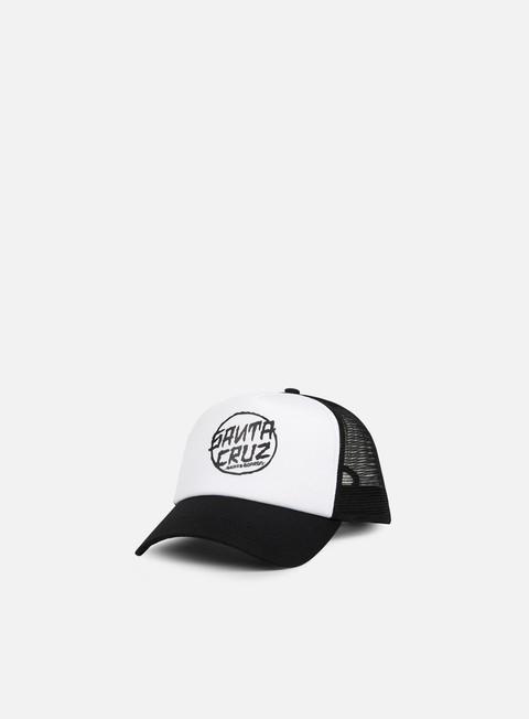 cappellini santa cruz dressen dot trucker cap black white