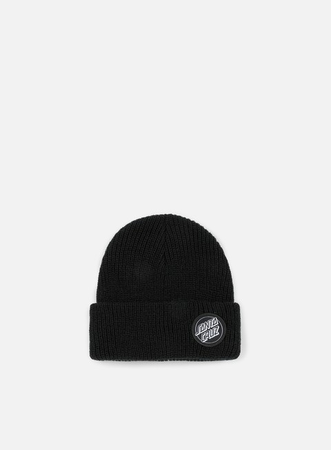 cappellini santa cruz outline dot beanie black