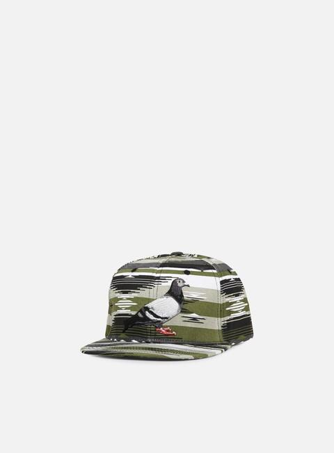 cappellini staple apache pigeon snapback olive