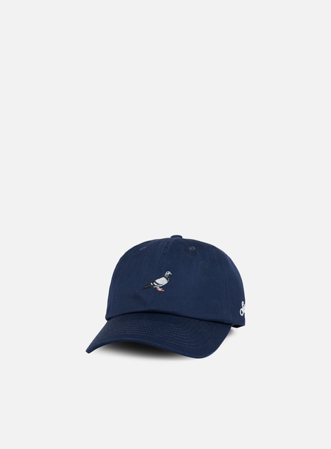 Curved Brim Caps Staple Pigeon Script Cap