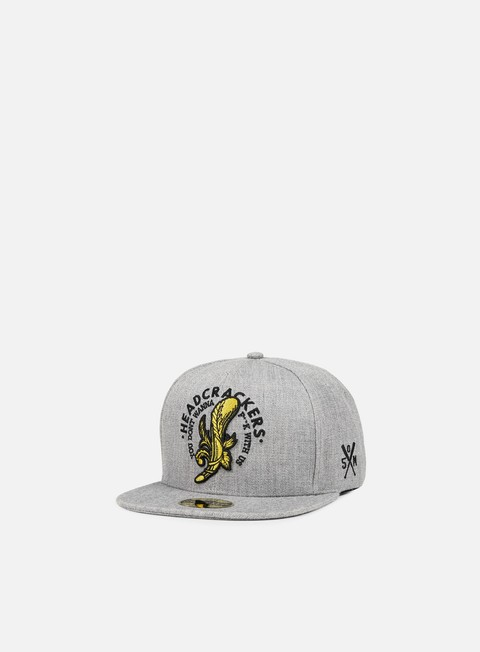 cappellini state of mind headcrackers ii patch snapback grey black