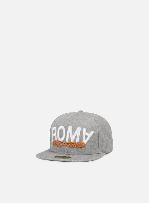 cappellini state of mind roma celebration iii snapback heather grey