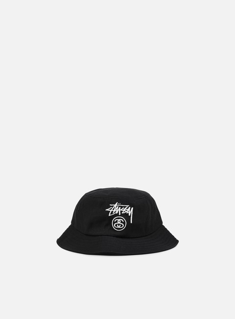 cappellini stussy acrylic stock lock bucket hat black