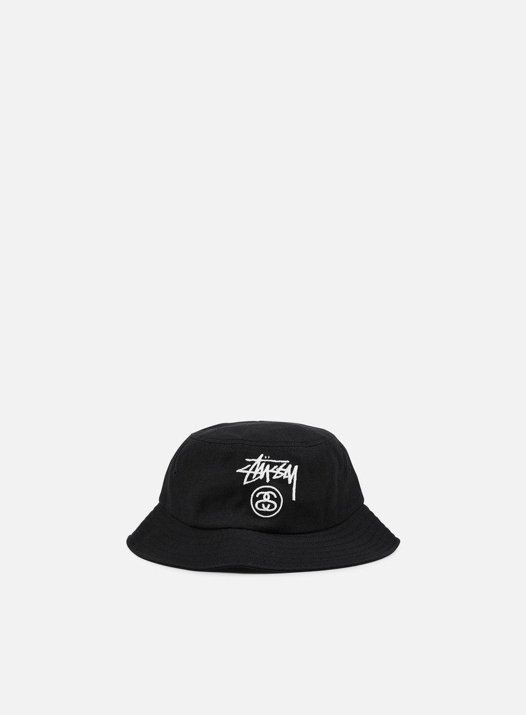 4a76ebb1762bd STUSSY Acrylic Stock Lock Bucket Hat € 54 Bucket Hat