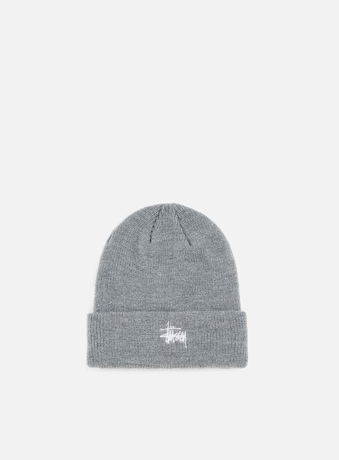 cappellini stussy basic cuff beanie grey heather