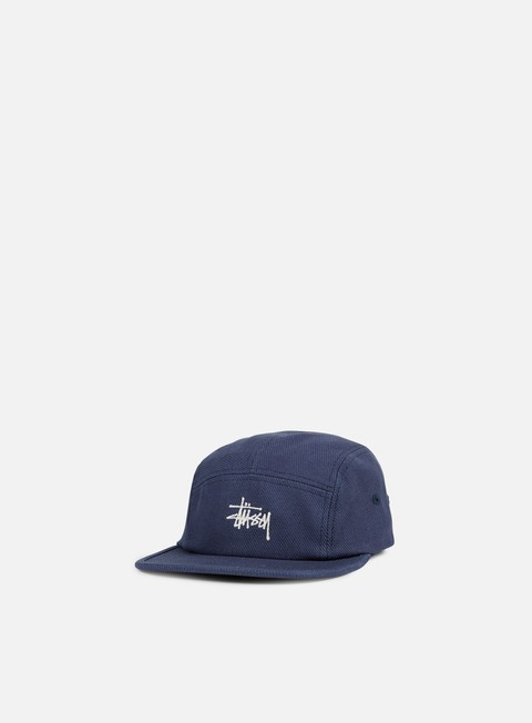 cappellini stussy basic logo camp cap blue