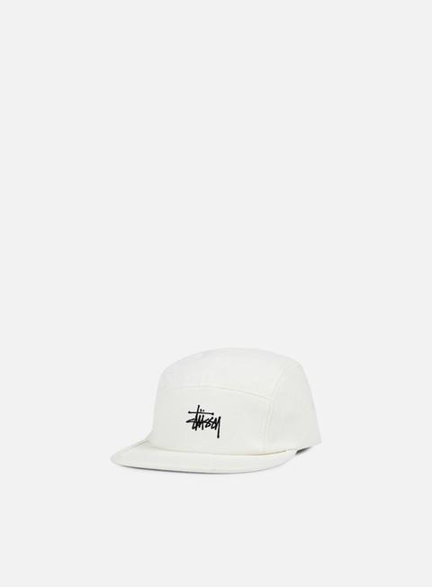 cappellini stussy basic logo camp cap off white