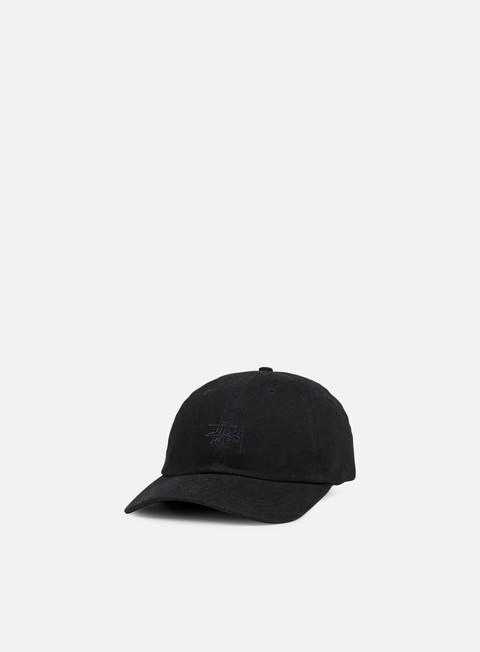 cappellini stussy basic logo low pro cap black