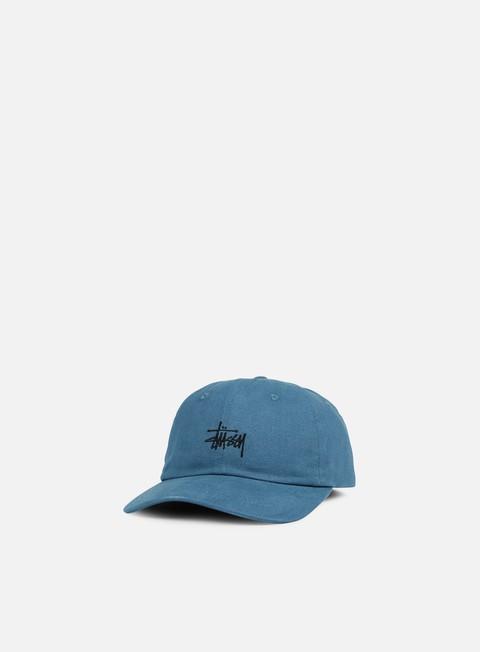 cappellini stussy basic logo low pro cap blue