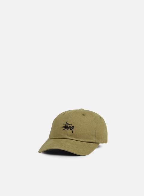 cappellini stussy basic logo low pro cap olive