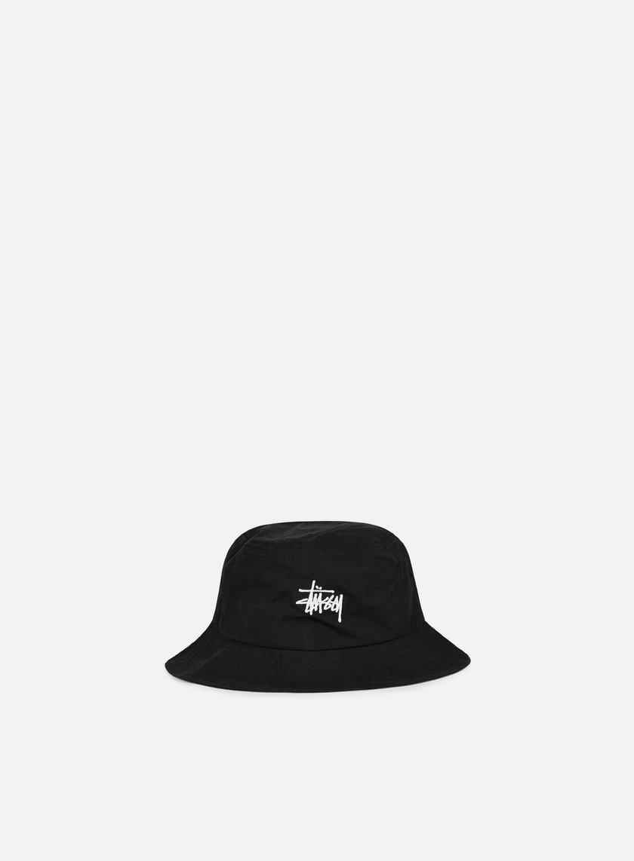 Stussy - Classic Logo Bucket Hat, Black