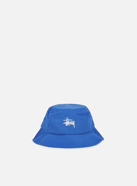 cappellini stussy classic logo bucket hat blue
