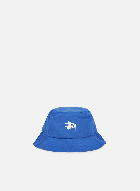 Stussy - Classic Logo Bucket Hat, Blue