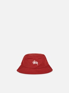 Stussy - Classic Logo Bucket Hat, Red 1