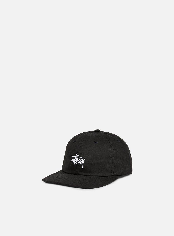 Stussy - Classic Logo Strapback Hat, Black/White