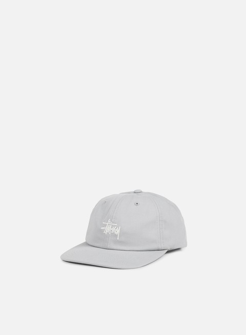 cappellini stussy classic logo strapback hat grey white