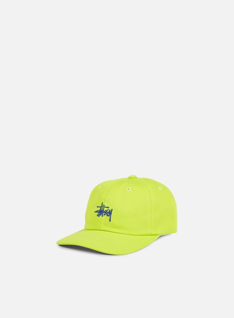cappellini stussy classic logo strapback hat lime navy
