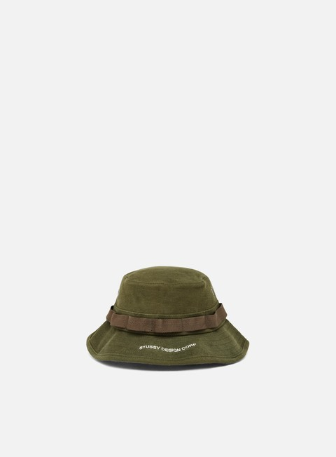 cappellini stussy jungle cloth boonie hat olive