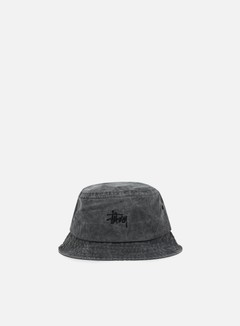 Stussy - Smooth Stock Enzyme Bucket Hat, Black 1
