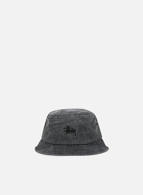 cappellini stussy smooth stock enzyme bucket hat black
