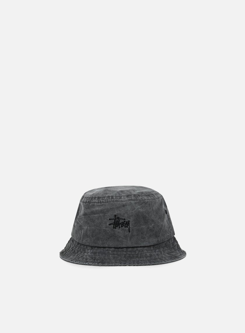 Stussy - Smooth Stock Enzyme Bucket Hat, Black