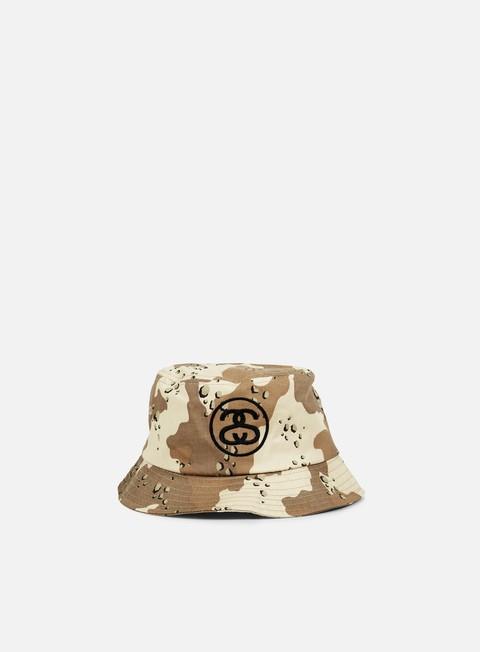 cappellini stussy ss link bucket hat desert camo black