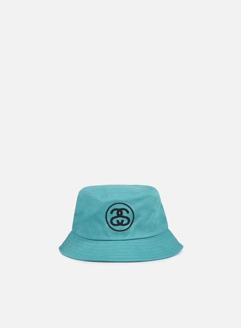 cappellini stussy ss link bucket hat teal black