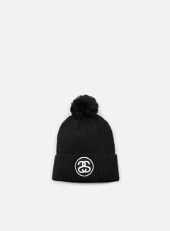 Stussy - SS Link Holiday Pom Beanie, Black 1