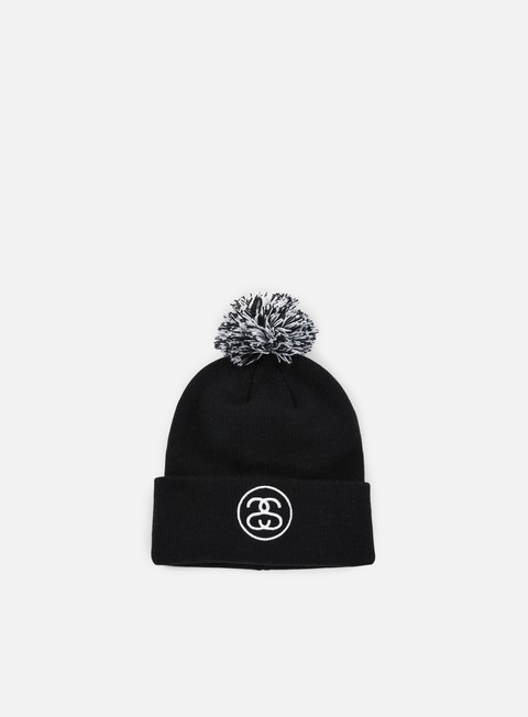 cappellini stussy ss link pom cuff beanie black