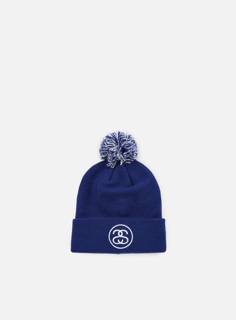 cappellini stussy ss link pom cuff beanie navy