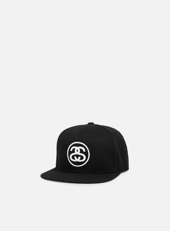 Stussy - SS Link Snapback, Black/White