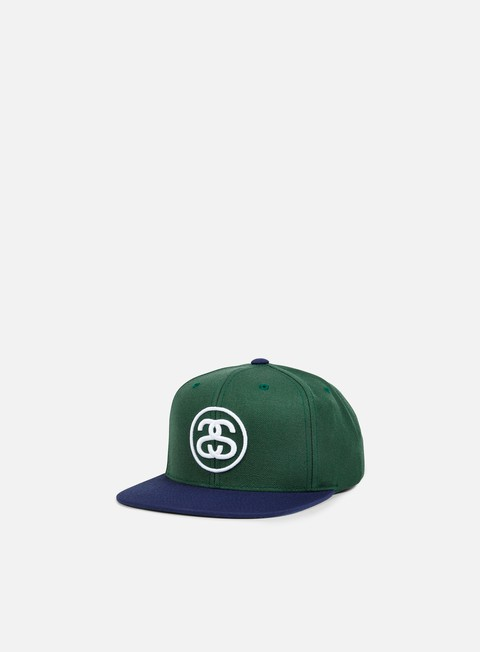 cappellini stussy ss link snapback green navy