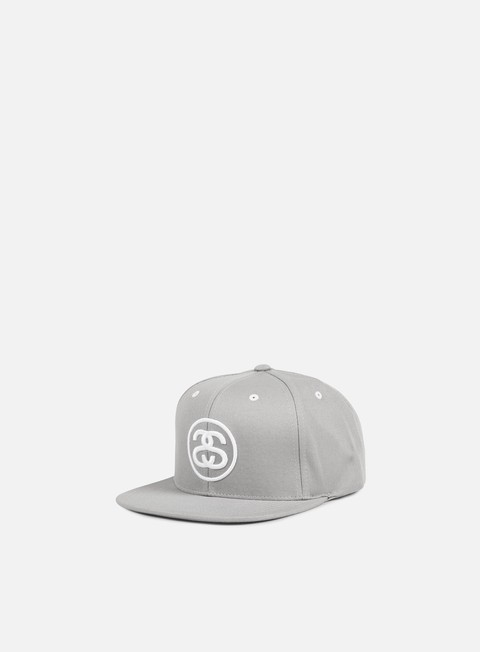 cappellini stussy ss link snapback grey white